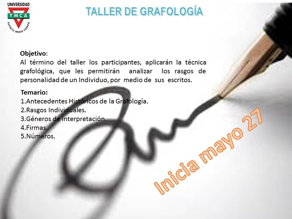 TALLER DE GRAFOLOGIA